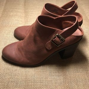 Lucky brand leather mules